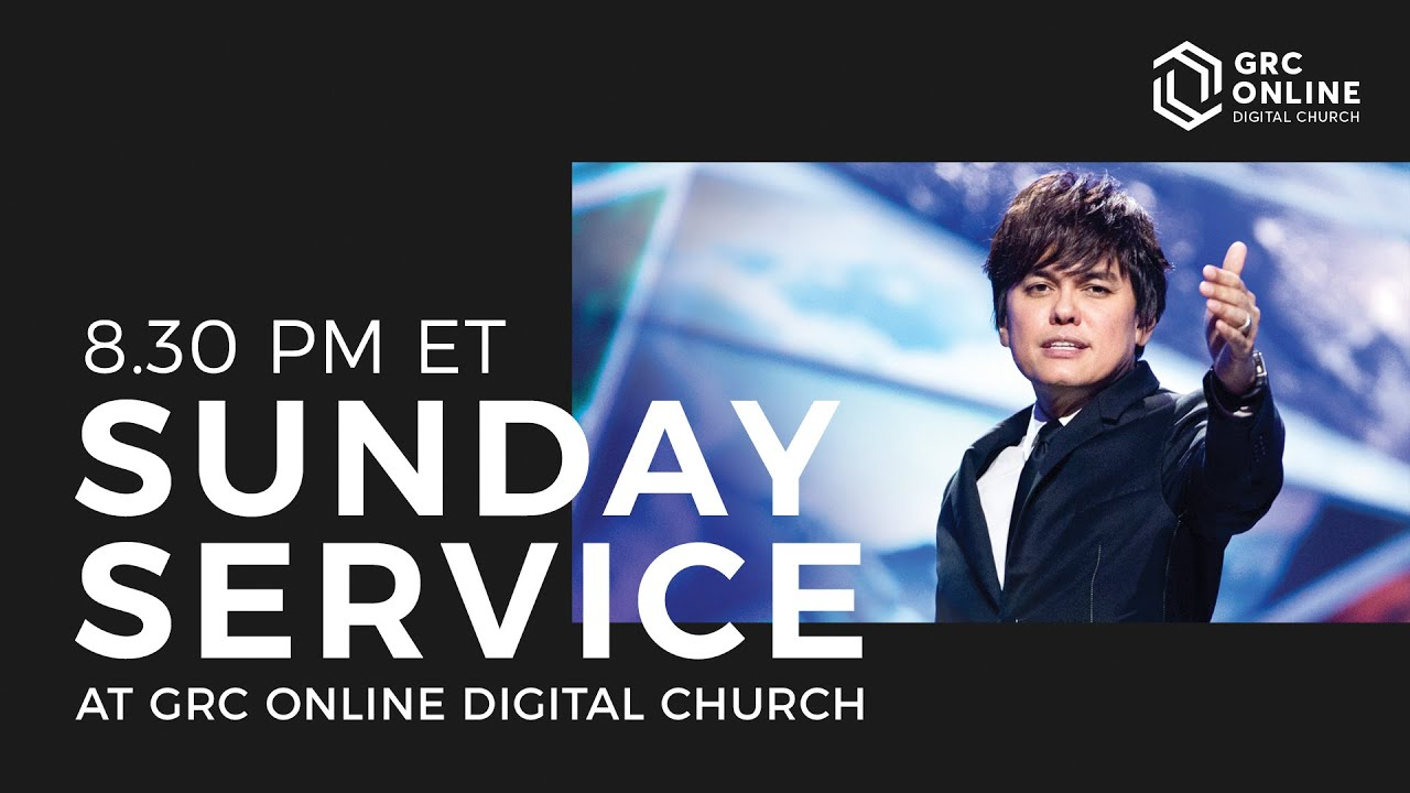8.30pm ET   GRC Online — Grace Revolution Digital Church Service   Pastor Joseph Prince